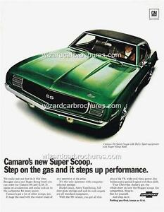 1969 CHEVROLET CAMARO SS Z/28 A3 POSTER AD SALES BROCHURE ADVERTISEMENT ADVERT