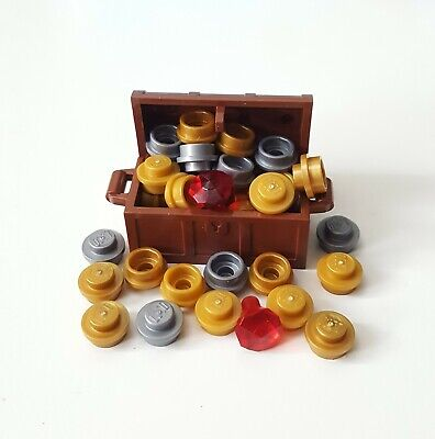 Pirate Booty Goblet /& Jewels LEGO Treasure Chest with extra Gold coins