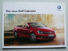 Prospekt Volkswagen VW Golf VI Cabriolet zur Premiere, 3.2011, 16 Seiten