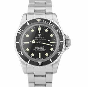 Vintage 1967 Rolex Submariner 5512 NEAT FONT 1.6xx METERS FIRST Patina Watch