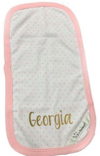 Personalised Baby Burp cloth boys girls YOUR NAME custom BABY MUM TO BE
