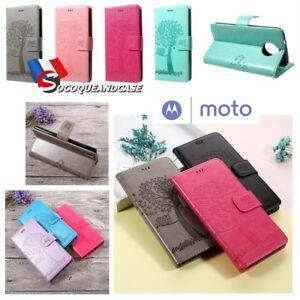 Etui-Folio-coque-housse-Cuir-PU-Leather-case-cover-MOTOROLA-Moto-G5S-G5S-plus
