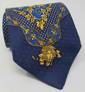 Cravatta-Gianni-Versace-barocco-100-pura-seta-tie-silk-original-made-in-italy