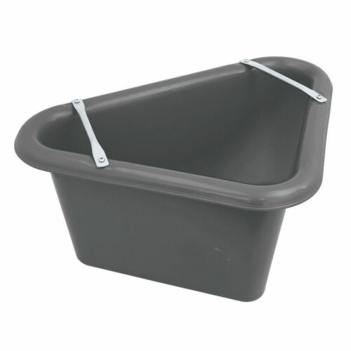 Perry Equestrian Triangular Feed Manger Stable Yard Horse Feed Water Bucket D5