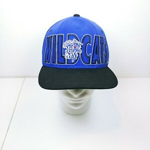 237c1a426fbd7 Image is loading Vintage-University-Of-Kentucky-Wildcats-Basketball-Snapback -Hat-