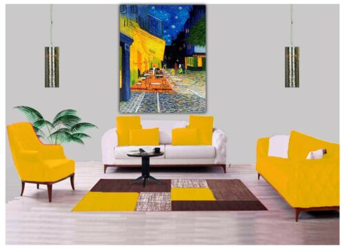 The Cafe Terrace at Night Paint by Van Gogh Reprint On Framed Canvas Wall Art