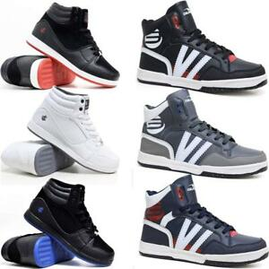 Mens-Hi-Tops-Trainers-New-Designer-Chunky-Fashion-Branded-Ankle-Boots-Shoes-Size