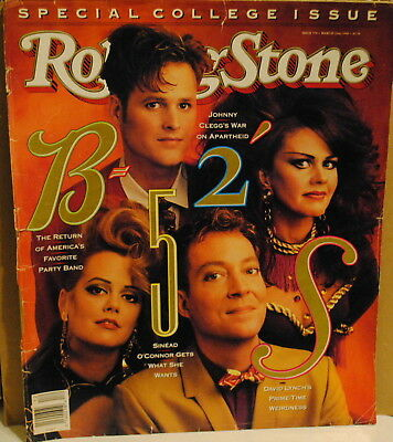 The B 52 S Twin Peaks Tv Show David Lynch Mar 1990 Rolling Stone Magazine Ebay