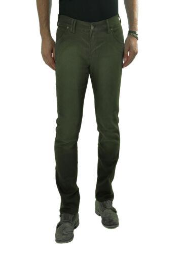 YES ZEE by ESSENZA pantaloni uomo slim fit Verde cinque tasche