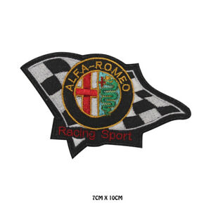Alfa-Romeo-Racing-Sport-Embroidered-Iron-on-Patch-Sew-On-Badge