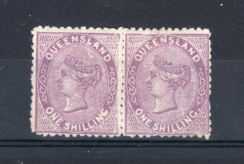 Australia Queensland 187981 1s MLH strip of 2
