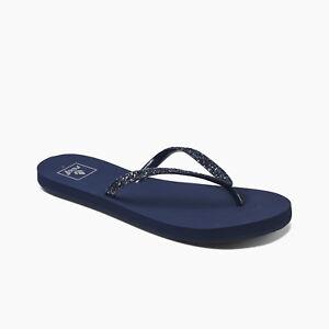 789eccaaafc REEF WOMENS FLIP FLOPS.STARGAZER SPARKLY NAVY BLUE SANDALS BEACH ...