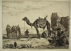 Jules-Laurens-1825-1901-Under-Walls-Tehran-Iran-Persian-1863-Reprint-20th