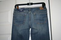 American Eagle Women's Stretch Straight Leg Distressed Jeans 2 Short