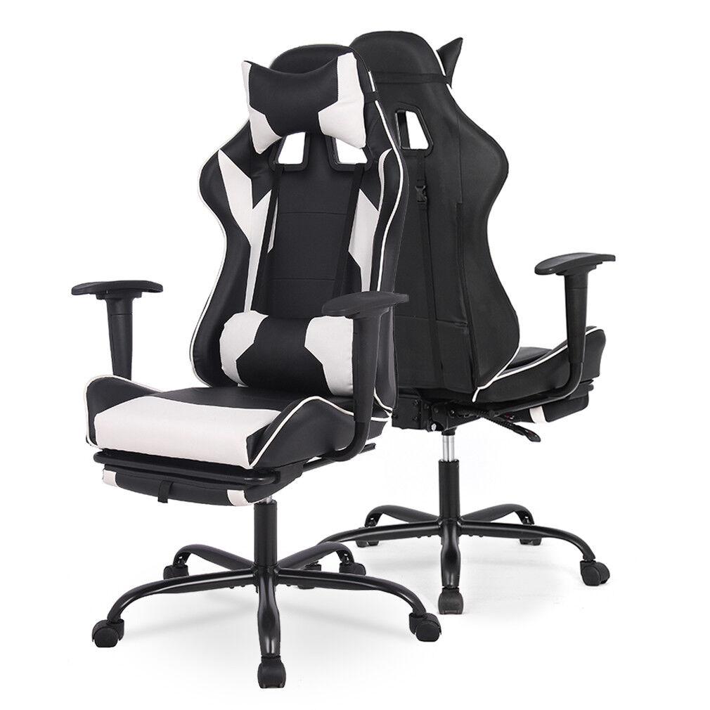 Office Gaming Chair Racing Ergonomic High Back Computer Task Seat Recliner Black