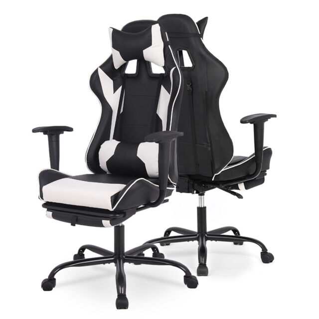 CANTILEVER DESIGN RIBBED PU LEATHER OFFICE FURNITUEE COMPUTER DESK OFFICE CHAIRS