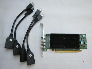 Matrox M9148 1GB 4 x mini DP PCI-E x16 c/w 4 x DP cables full height bracket