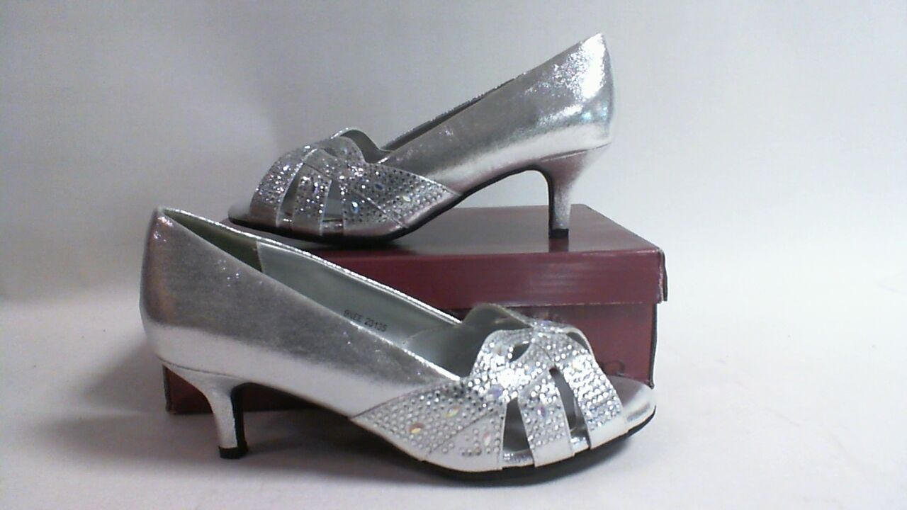 Dyeable Wedding/Evening Shoes -Tracy - Silver Shimmer - US 7B - UK 5 #23L391
