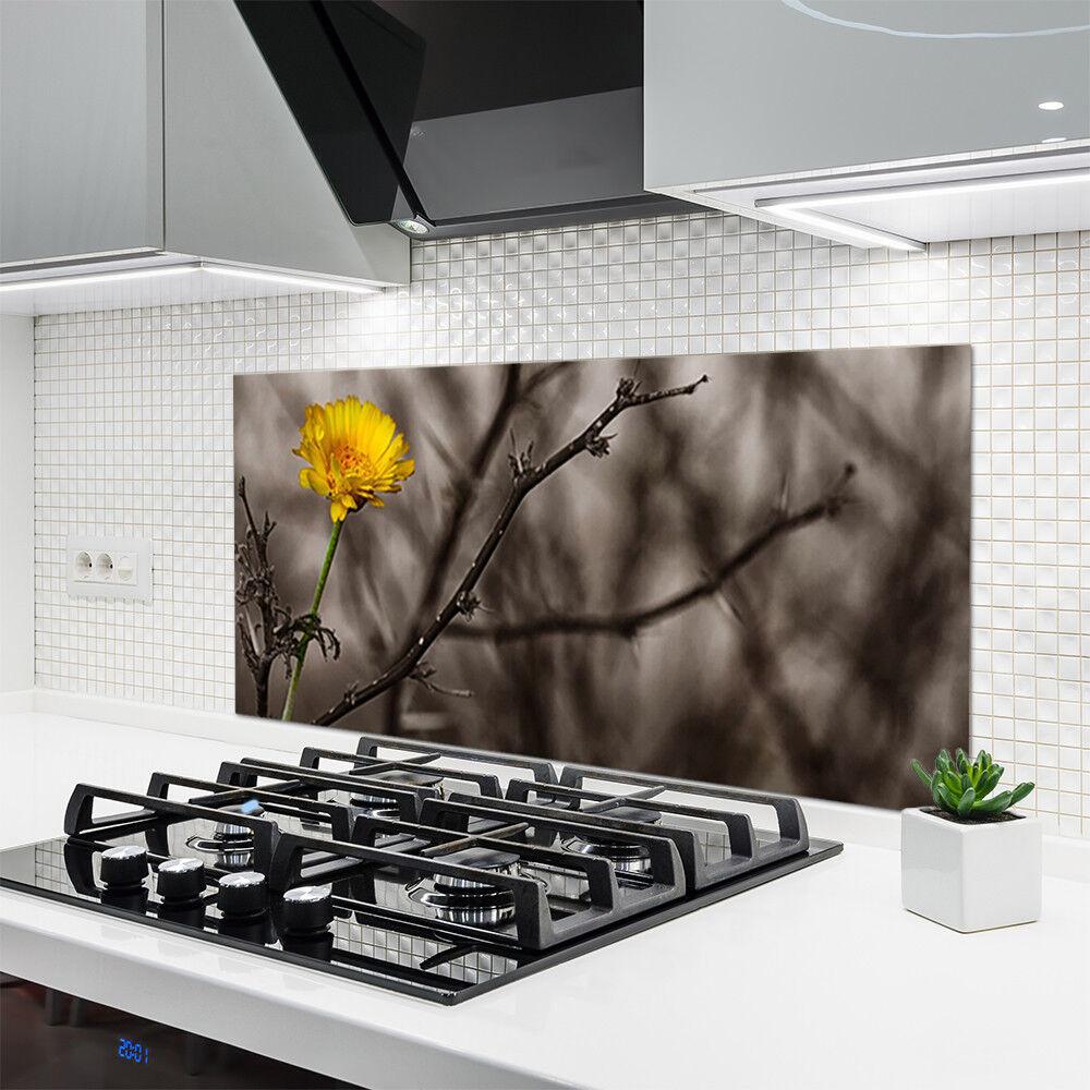 Crédence de cuisine en verre Panneau 120x60 Floral Branche Fleur