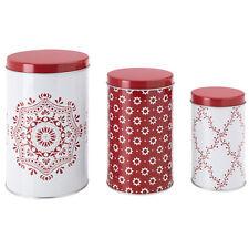 IKEA VINTER 2015 Dose mit Deckel 3er Set Plätzchen Weihnacht Gebäckdose weiß/rot