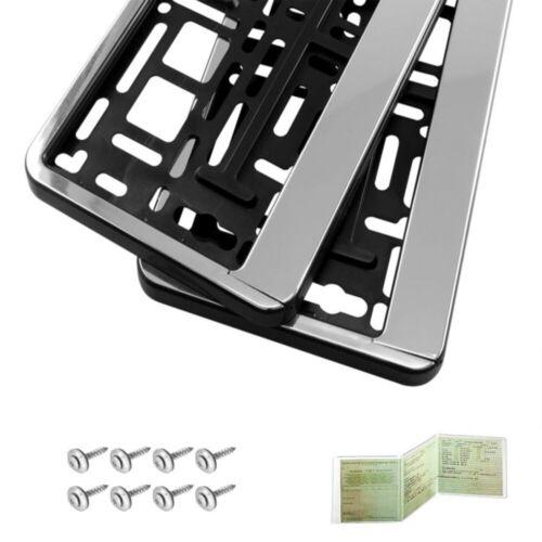 2 Pièces Support de plaque d/'immatriculation plaque d/'immatriculation Support Chrome HP NOUVEAU /& NEUF dans sa boîte
