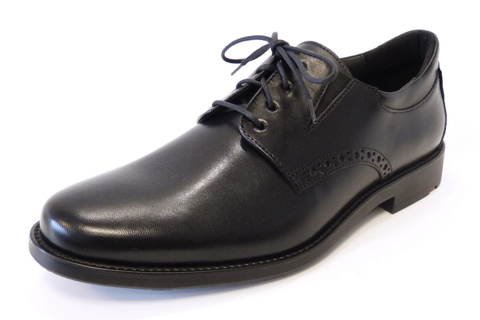 Lloyd Business Schnür Schuh Kolor 26-869-00 schwarz Extraweit Leder Gummisohle