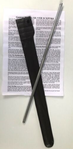 "SILVER SCEPTRE MAGIC WAND Scepter Rising Jumping Rod Trick 16/"" Metal Stick Gag"
