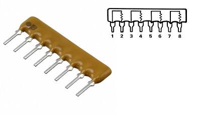 20PCS 5Pin Resistor Network Array 2K ohm A202J 2KR DIP Exclusion Network Resisto
