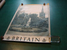 """Original Vintage Poster: BRITAIN 20 X 30""""--NORWICH, the Cathedral"""