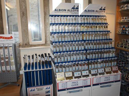 Albion Alloys 345  8 x Plastic Sanding Needles Medium 240 Grit New Pack