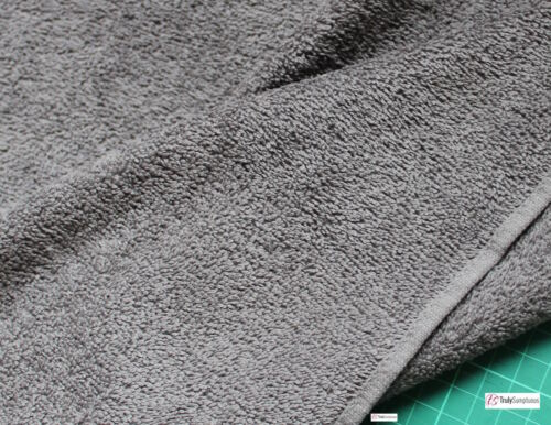 CHARCOAL  Cotton Towelling Fabric Thick and Strong by Truly Sumptuous