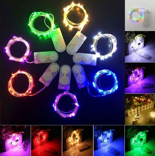 10LED Battery Power Operated Copper Wire Mini Fairy Light String Xmas Decor 1M
