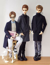 Long Style Woolen Coat Windbreaker For BJD 1/3 SD17 Uncle Doll Clothes CM87