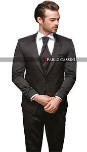 Vestito Matrimonio Uomo Nero : Pablo cassini designer completo uomo nero vestito matrimonio sposo