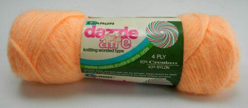 1 Skein #22630 Peach Vintage Caron Dazzleaire 4-Ply Creslan//Nylon Yarn