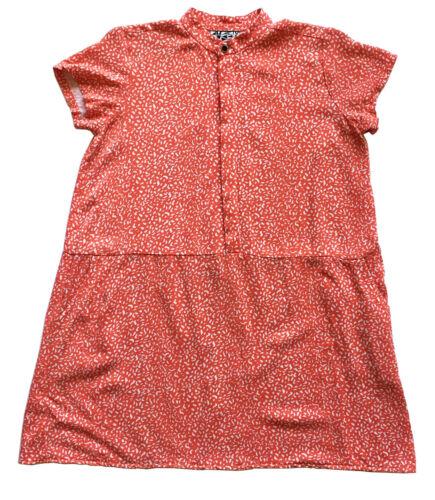 DUSEN DUSEN Sz XS Oversized Tee Dress Orange Compo