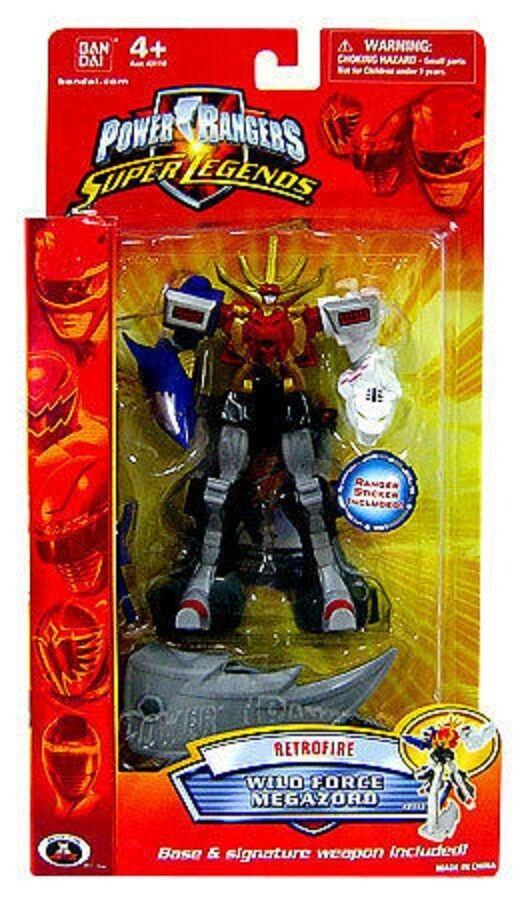 Power Rangers súper Legends Wild Force 6  Megazord Con Soporte Nuevo retofire 2009