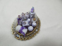 Dollhouse Miniature 1:12 Scale Vanity Tray Lotion Perfume Bottles Z301 Lavender