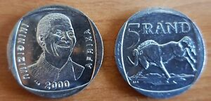 Nelson-Mandela-South-Africa-R5-Year-2000-Smiley-uncirculated-high-grade-Coin