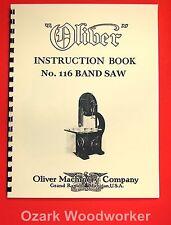 Oliver No 116 36 Band Saw Operating Instructions And Parts Manual 1035