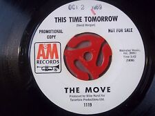 The Move Curly b/w This Time Tomorrow Promo 45 rpm 1969  A&M Records used