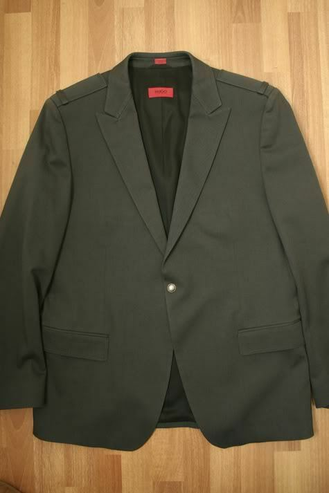 HUGO BOSS Sports Coat Military Blazer Medium Grey Large