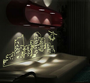 Dark Living Room At Night glow in the dark city at night poster stickers wall art living
