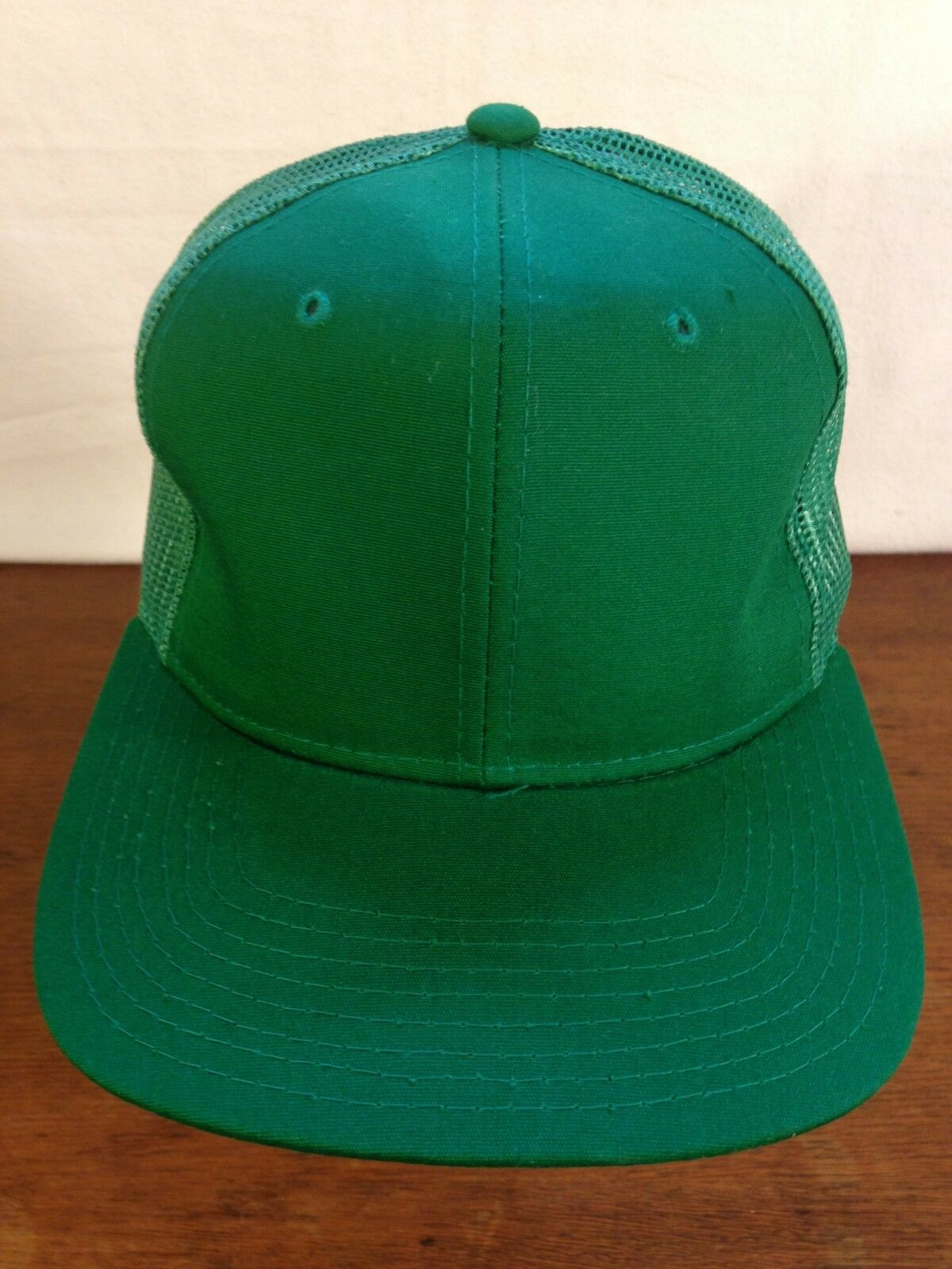 Men's Plain Trucker Green Cotton Polyester Mesh Snapback Trucker Plain Cap bfafdc