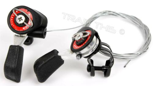 SunRace SL-M10 5//6//7-Speed Friction Thumb Shifter Set w// Cables Housing MTB Bike