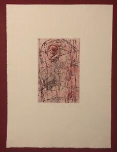 Dagmar Ranft-schinke, Phönix i, acquaforte, 1992, firmato a mano e Bohème