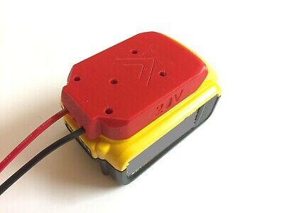 Power Wheels Battery Adapter for 20V dewalt Battery Adapter dewalt Dock Power Tool Connector Mount with 12 Gauge Robotics