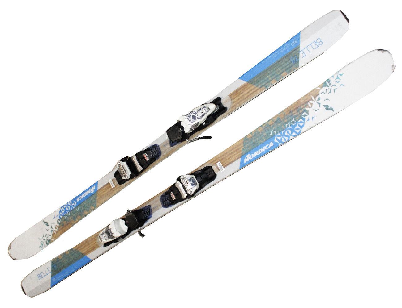Esquí Nordica Belle 78 Testski 169cm Mujer 16 17 Fijación Marcador blancoo Azul