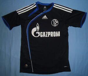 Schalke-04-2009-2010-Third-ADIDAS-JUNIOR-Shirt-Jersey-Size-164cm-13-14