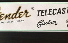 Two Guitar Headstock Waterslide Decals 70's Tele